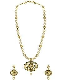 Zaveri Pearls Ethnic Motti Mala Necklace Set For Women - ZPFK6102