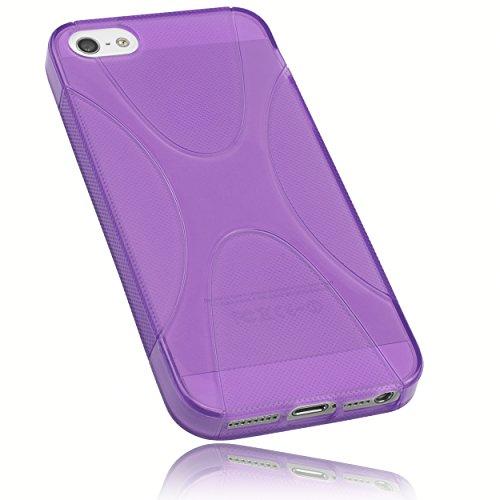mumbi X-TPU Schutzhülle für iPhone SE 5 5S Hülle halbtransparent lila