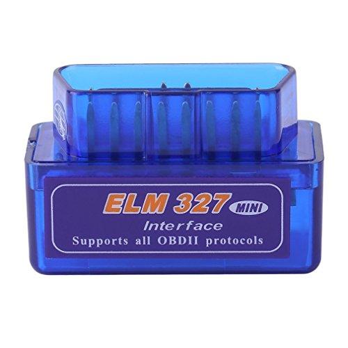 TONVER Auto Diagnosewerkzeug, Super Mini ELM327 OBD2 II Bluetooth Auto Diagnose Scanner Tool Tragbar Auto Wireless Auto Diagnose Scanner