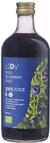 Bio-Saft aus Wilden Blaubeeren, 500 ml, Wilde Blaubeeren aus Nordischen Wäldern Gesammelt, 100{4d359041f5aeaeffccaab33a8f7adf8179849ada43a8e13b9fd8e45a24d5c76d} aus Direkt Gepressten Beeren, Ohne Zuckerzusatz, Ohne Konzentrat, Ohne Wasserzusatz