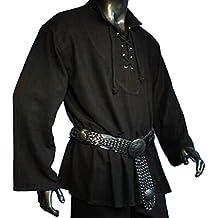 Dark Dreams Gothic Mittelalter LARP Bauer Pirat Hemd Schnürung Einar