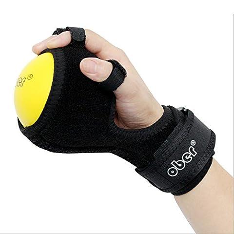 Doigt de doigt périphérique équipement d'entraînement Anti-spasticity Attelle de boule à la main la Gêne fonctionnelle doigt Orthèse Main Boule d'exercice de rééducation doigts Hémiplégie