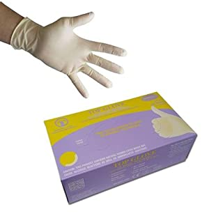 Top Glove White Latex Powder Free Disposable Gloves - AQL 1.5 - Boxed x100 (Large)