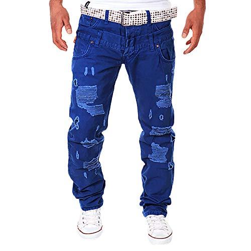 Geili Herren Cargo Hose Viele Taschen Baumwolle Freizeithose Loose Fit Arbeitshose Modern Männer Destroyed Hohl Wasserwäsche Lang Hosen Trousers Pants Trekkinghose