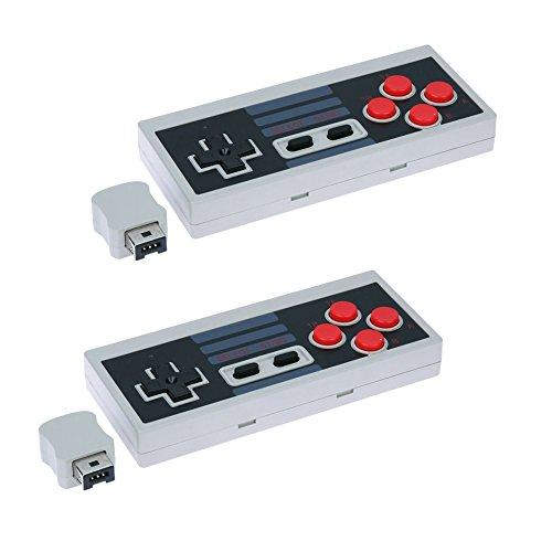QUMOX 2 x Controlador inalámbrico Gamepad Nintendo Mini Clásico NES Consola Turbo Función