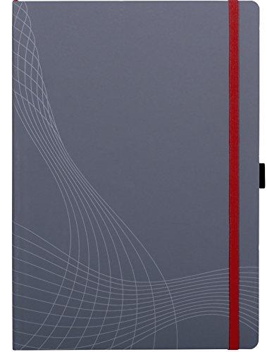 Avery Zweckform 7021 Notizbuch notizio (A4, Softcover, gebunden, kariert, 90 g/m²) 80 Blatt, grau