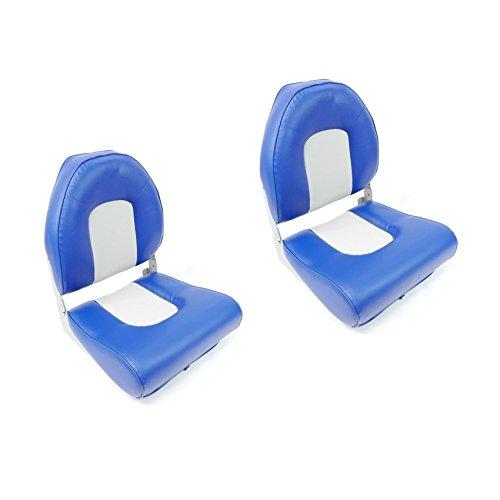 2x hohe Rückenlehne Sitz, grau/blau Style durch midmarine