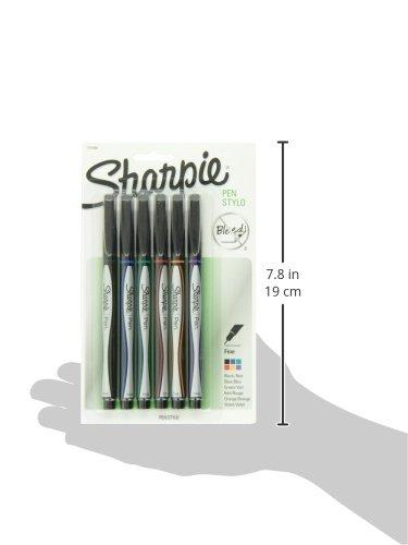 Sharpie Pen, Fine Point, Assorted Colors, 6-Count