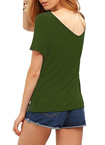 Match Donna T-Shirt Casual #137 137 Verde(Green)