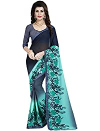 Paroma Art Women's Chiffon Saree With Blouse Piece (Sarees For Women's Party Wear Gs1004_Blue)