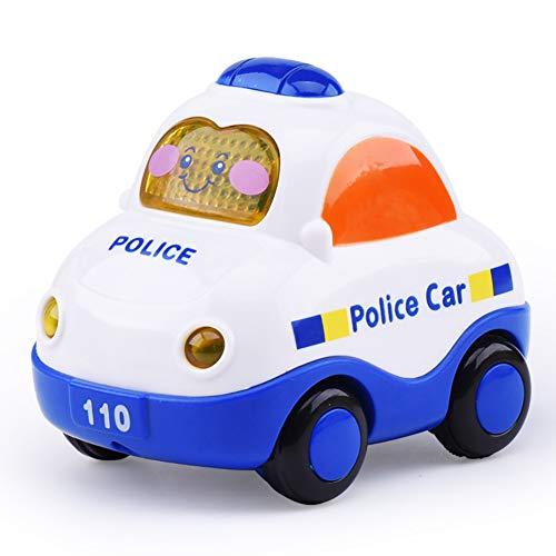 Ouken 1pc niedliche Cartoon Baby Spielzeugauto Sound und leichte Musik Trägheit kleines Spielzeugauto (Polizeiauto)
