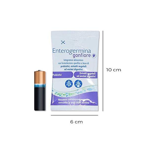 Enterogermina Gonfiore Integratore alimentare contro il gonfiore addominale, 10 bustine da 2+2 g, senza lattosio e senza… 4 spesavip