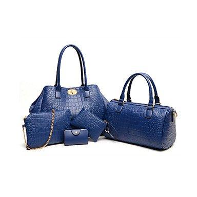 La donna pu formale / Casual / Ufficio & Carriera / Shopping Tote blu / rosso / nero,Ruby Blue