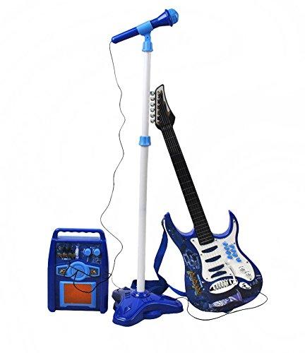 ISO TRADE Juego de Guitarra eléctrica + Amplificador + micrófono con Soporte...