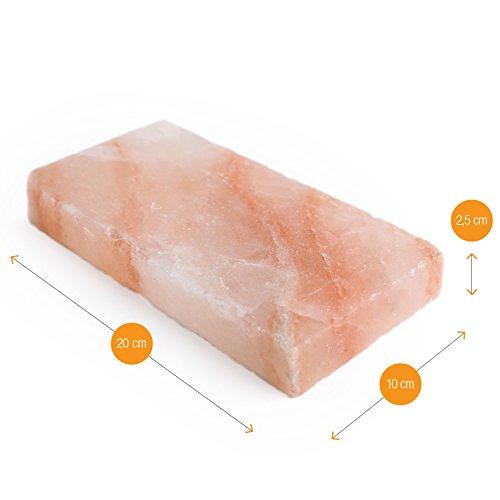 415QpwN7twL - Amazy BBQ Salzstein zum Grillen (3 Stück) - Hochwertige Salzplanke für die Zubereitung von Fleisch und Fisch mit leckerer Salzkruste auf dem Grill oder im Backofen