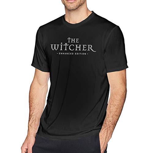 Wuyouhua The Witcher - Camiseta de Manga Corta para Hombre, Color Negro Negro Negro (S