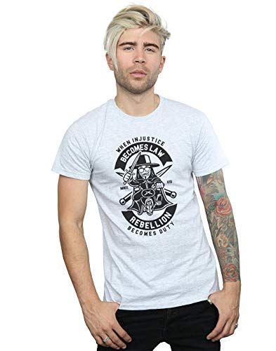 Absolute Cult Drewbacca Herren Rebellion Becomes Duty T-Shirt Sport Grau X-Large