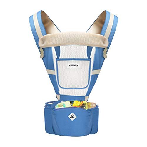 YeahiBaby Babytrage mit Hüftsitz, atmungsaktiv, für alle Jahreszeiten, Blau