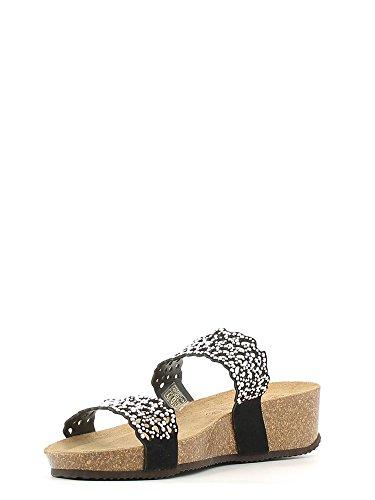 Grünland ANIN CB1064 noir coin clous sandales en cuir sandales femmes Nero