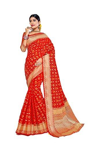 Sangrila Patola Red Silk Saree