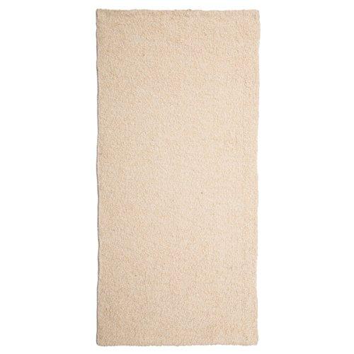 Alfombra de pie de cama romántica blanca de algodón / poliéster para dormitorio de 60 x 120 cm Fantasy - Lola Derek