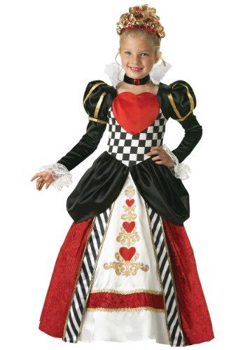 In Charakter Damen Kind Deluxe Königin der Herzen Kostüm, Black,Red, Größe 9 (Königin Der Kostüm Kinder Herzen)