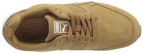 Puma ARIAL SUEDE Unisex-Erwachsene Sneakers Braun (chipmunk-marshmallow 04)