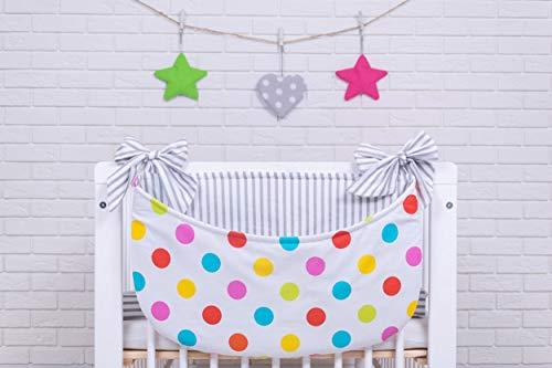 Amilian® Betttasche Spielzeugtasche Design18 Babybetttasche Windelntasche Spielzeughalter für Kinderbett NEU