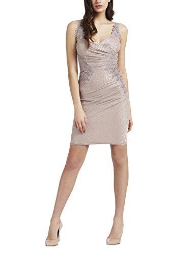 Fair-isle-pullover Mit V-ausschnitt (Lipsy Damen Plissiertes Bodycon Kleid Folienbeschichtung Applikationen Ärmellos Rosa 38)