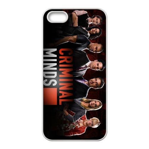 Criminal Minds coque iPhone 5 5S Housse Blanc téléphone portable couverture de cas coque EBDXJKNBO16507