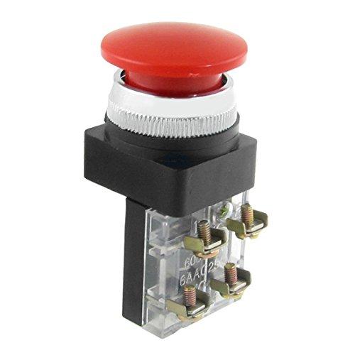 """* TOOGOO es una marca registrada. Solo el vendedor autorizado de TOOGOO puede vender los productos de TOOGOO. Nuestros productos va a mejorar su experiencia de la inspiracion sin igual. TOOGOO(R)AC 600V 6A 38mm 1,5"""" Interruptor de pulsador de seta mo..."""