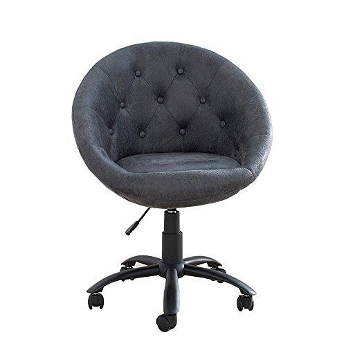 Bürosessel COUTURE antik grau mit Rollen höhenverstellbar Drehstuhl Sessel Büro Stuhl Arbeitszimmer (Mit Rollen Bürostühle)