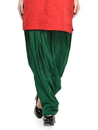 Stylenmart Women Cotton Solid Full Patiala Salwar (Stmapa078621 _Green _Free Size)