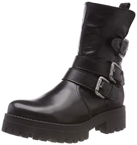 Buffalo Damen Mauve Morn IBEROCRUST Leather Biker Boots, Schwarz (Black969 00), 38 EU
