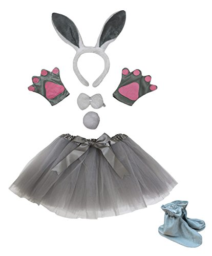 Bambini Panda Bandeau Noeud Papillon Queue Gant Chaussures Tutu de Costume pour Halloween Party