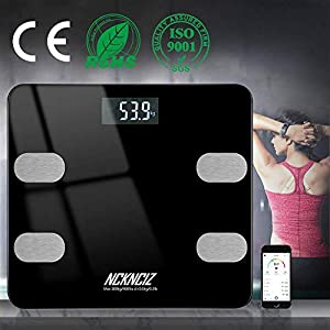 Báscula de Baño, Báscula Grasa Corporal, Balanza Bluetooth Inteligente Peso Digital, Monitores de Composición Corporal…
