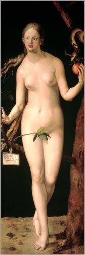Poster 20 x 60 cm: Eva von Albrecht Dürer/akg-Images - hochwertiger Kunstdruck, Kunstposter