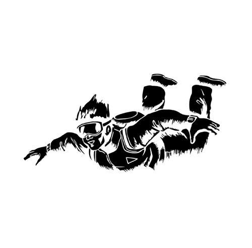 Auto-Dekor,Fallschirm 19x9cm Benutzerdefinierte PVC DIY Auto Motorrad Aufkleber Kunst Zubehör Kreative Spiel Stil Fenster Helm Aufkleber Geburtstagsgeschenk 5 Stücke