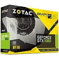 Zotac GeForce GTX 1060 Amp Edition (Nvidia GTX 1060, 6GB GDDR5X, 192bit, BASE-Takt 1607MHz, Boost-Takt: 1835 MHz, Scheda di memoria: 10 GHz)