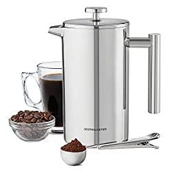 Andrew James Stainless Steel Cafetiere 1000ml