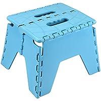 ASAB Klapphocker aus Kunststoff für Küche, Bad, WC, Wohnwagen, für Kinder, Erwachsene, Zusammenklappbar, Rutschfest blau preisvergleich bei kinderzimmerdekopreise.eu