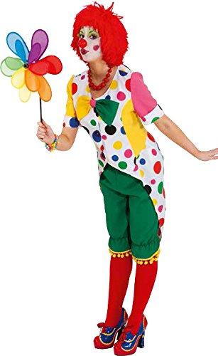 Orlob Damen Kostüm Frack Clown Augustina zu Karneval Fasching - Clown Frack Kostüm