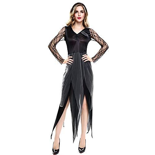 XWDQ Außenhandel Europa Und Amerika Erwachsenen Halloween Kostüm Cosplay Dark Vampir Braut Tanz Performance Uniform,L