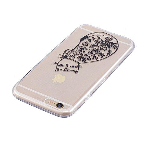 iPhone 6 Hülle,iPhone 6S Hülle,iPhone 6S / 6 Schutzhülle Case,SpiritSun TPU Silikon Schutzhülle Case Hülle für iPhone 6S / 6,Durchsichtig Muster Handyhülle iPhone 6S / 6 Silikon Hülle [Kristallklar Du katze