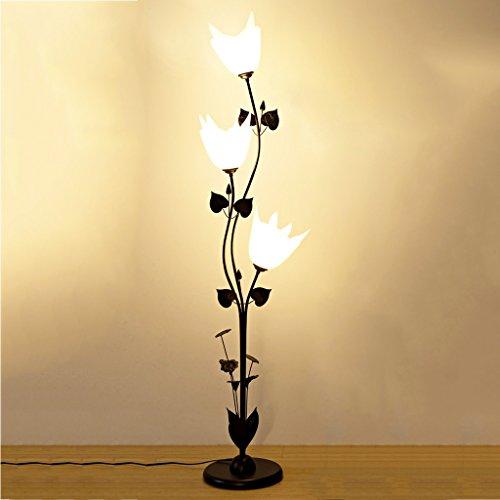 LILY Drei-Lampen-Blumendesign Multi-Funktions-Stehlampe, weißer Acryl Lampenschirm, Wohnzimmer Schlafzimmer Couchtisch Stehlampe, H158cm Lily Lampe
