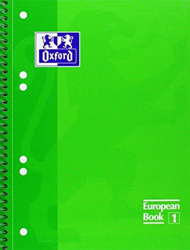 Oxford - Bloc de notas perforados (A5, 80 hojas), color verde