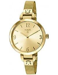 Reloj Tous Bohème de acero IP dorado con bolso verano Tous de regalo