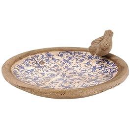 Esschert Design AC1032cm x 6.1cm x 32cm Ceramica Vasca per Uccelli