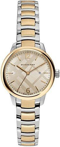 Burberry mujer de Swiss el clásico redondo de dos tonos pulsera de acero inoxidable reloj 32mm bu10118