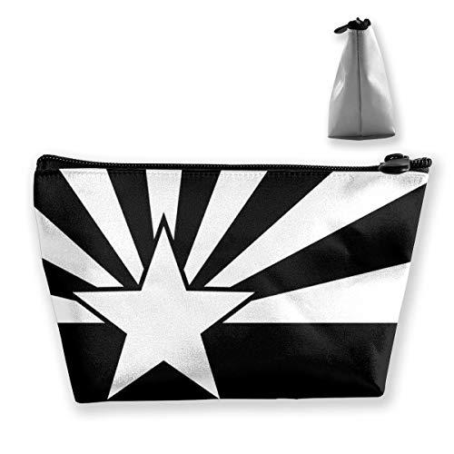 Arizona-Flagge, die Trapez-Reise-Make-upbeutel-Kosmetiktaschen 7x12x22CM tixing ist